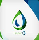 Flat water drop geometric shape concept Stock Photography