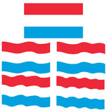 Flat and Waving Flag of Luxembourg Stock Photography