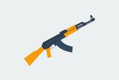 Flat weapon kalashnikov Royalty Free Stock Photos