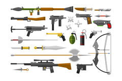 Flat weapons vector. Stock Photo