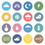 Flat Weather Icon Set Stock Image