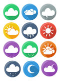 Flat weather icon vector Royalty Free Stock Images