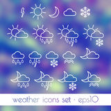 Flat weather icons Stock Photography
