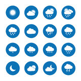 Flat weather icons. Collection of flat weather icons Royalty Free Stock Photo