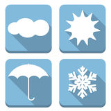 Flat weather icons Stock Images
