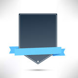 Flat web banner template ribbon Royalty Free Stock Image