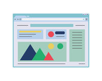 Flat web browser window mockup. Website page template. Royalty Free Stock Photo
