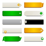 Flat Web Button Elements Stock Photography