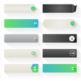 Flat Web Button Elements stock illustration