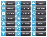 Flat web buttons clean blue and dark Stock Photos