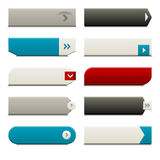 Flat Web Buttons Elements royalty free illustration