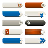 Flat Web Buttons Elements Stock Photography