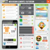 Flat web design Stock Photos