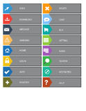 Flat Web Design buttons, icons. Templates for website. Stock Images