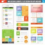 Flat Web design Stock Image