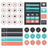 Flat Web Design elements Royalty Free Stock Photos