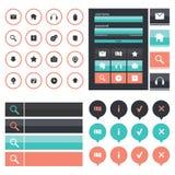 Flat Web Design elements Royalty Free Stock Photos