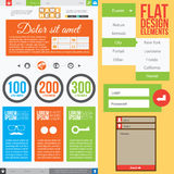 Flat Web Design Stock Photography