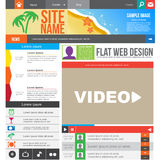 Flat Web Design Stock Image