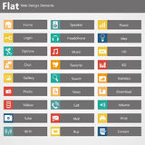 Flat Web Design elements, buttons, icons. Templates for website. Stock Photos