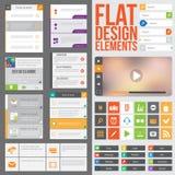 Flat web design Royalty Free Stock Photos