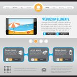 Flat Web Design elements. Template for website Royalty Free Stock Images