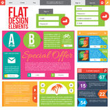 Flat Web Design Stock Photo