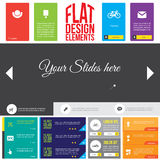Flat Web Design elements. Templates for website Royalty Free Stock Images