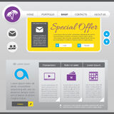 Flat Web Design elements Stock Image