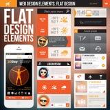 Flat web design Stock Photo