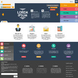 Flat Web Design elements. Templates for website. Stock Image