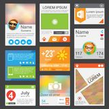 Flat Web Design elements. Templates for website or phone application Royalty Free Stock Photography