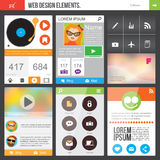 Flat Web Design elements. Templates for website or phone application Royalty Free Stock Photos