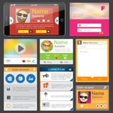 Flat Web Design elements. Templates for website or phone application Royalty Free Stock Images
