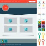 Flat Web Design elements. Templates for website vector illustration