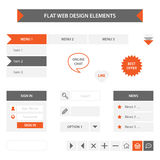 Flat web design elements Royalty Free Stock Photo