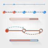 Flat web design progress bars set. Vector illustration Royalty Free Stock Images
