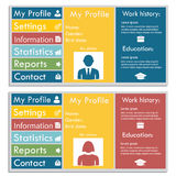 Flat Web Design set elements buttons icons gui concept illustra. Tions Royalty Free Stock Image