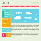 Flat Web Design Template. Royalty Free Stock Image