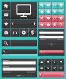 Flat web elements icons Royalty Free Stock Images
