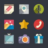 Flat web icon set Stock Photos