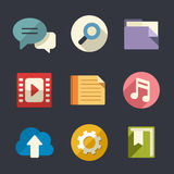 Flat web icon set Royalty Free Stock Image