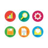 Flat web icons Royalty Free Stock Photo