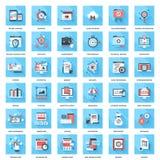 Flat web icons Stock Photo