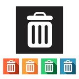 Flat web icons (recycle bins),  illustration. Set of flat colored simple web icons (recycle bin),  illustration Royalty Free Stock Photo
