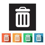 Flat web icons (recycle bins),  illustration Royalty Free Stock Photo