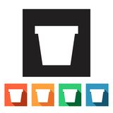 Flat web icons (recycle bins),  illustration. Set of flat colored simple web icons (recycle bin),  illustration Royalty Free Stock Photos