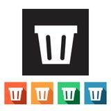 Flat web icons (recycle bins),  illustration Stock Photo
