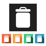 Flat web icons (recycle bins),  illustration. Set of flat colored simple web icons (recycle waste bins),  illustration Royalty Free Stock Images