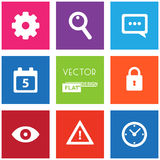 Flat Web Icons Royalty Free Stock Photography